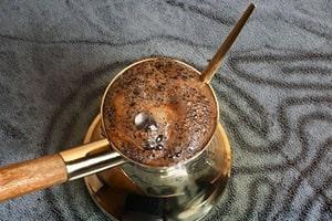 Café turc mousseux