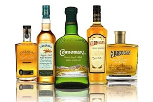 Bouteilles de Whiskey Irlandais